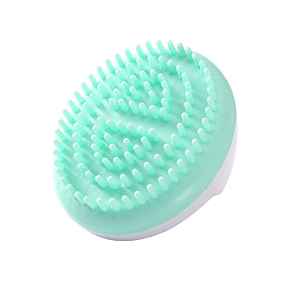 獣欠伸委員会LURROSE セルライトマッサージブラシ手持ち風呂ブラシ抗セルライト痩身美容マッサージブラシ(グリーン)