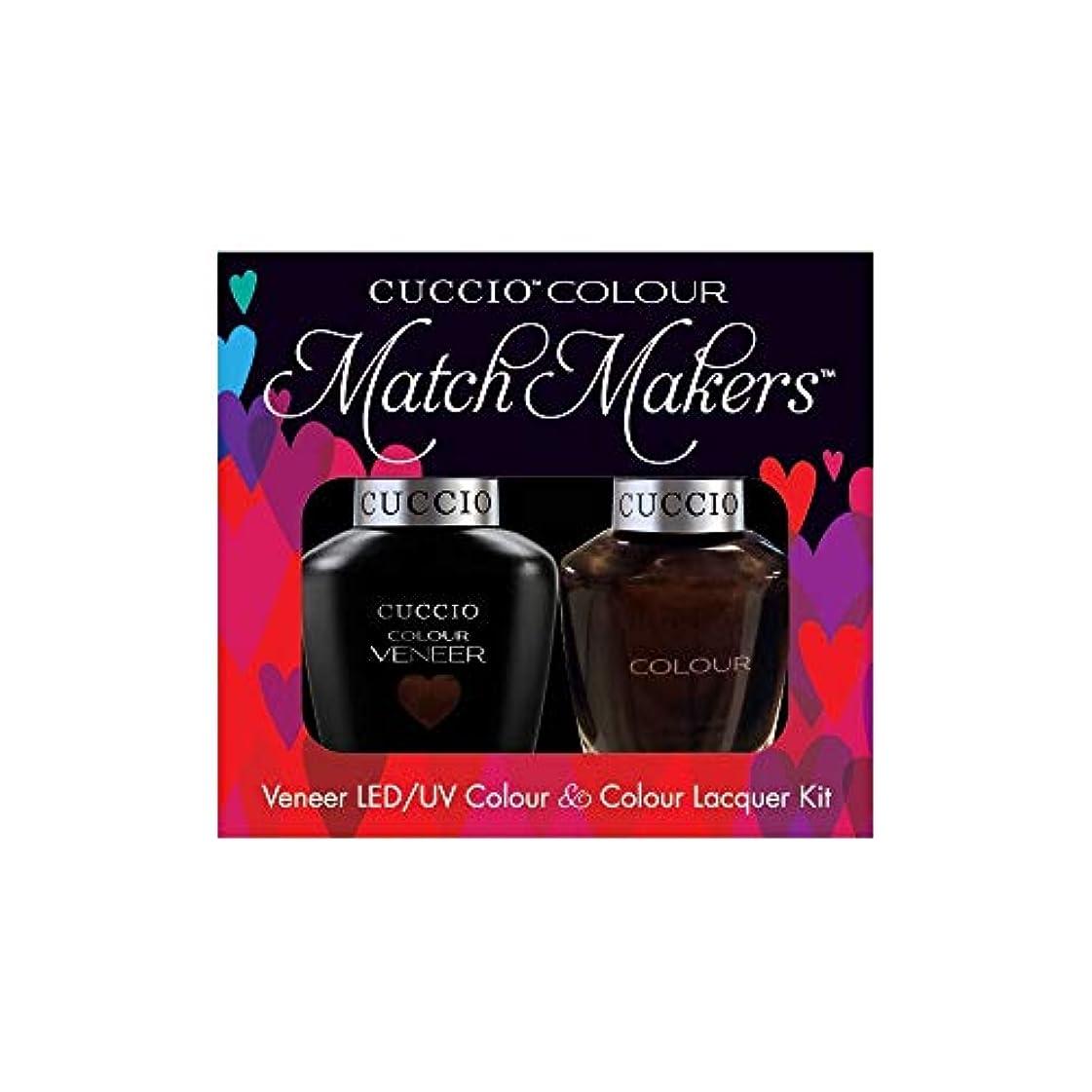 男らしさトランスミッションホールドCuccio MatchMakers Veneer & Lacquer - Duke It Out - 0.43oz / 13ml Each