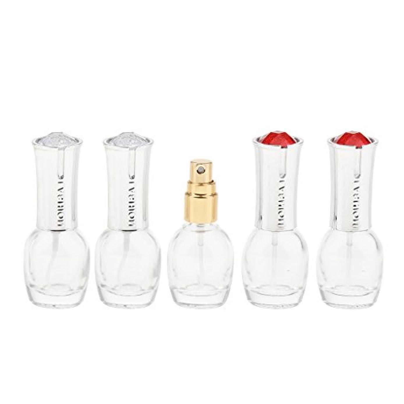 聞きます口径いわゆる5個 ガラス ボトル 10ml 詰替え オイル 香水 ローション 化粧品 コスメ アトマイザー スプレーボトル 旅行