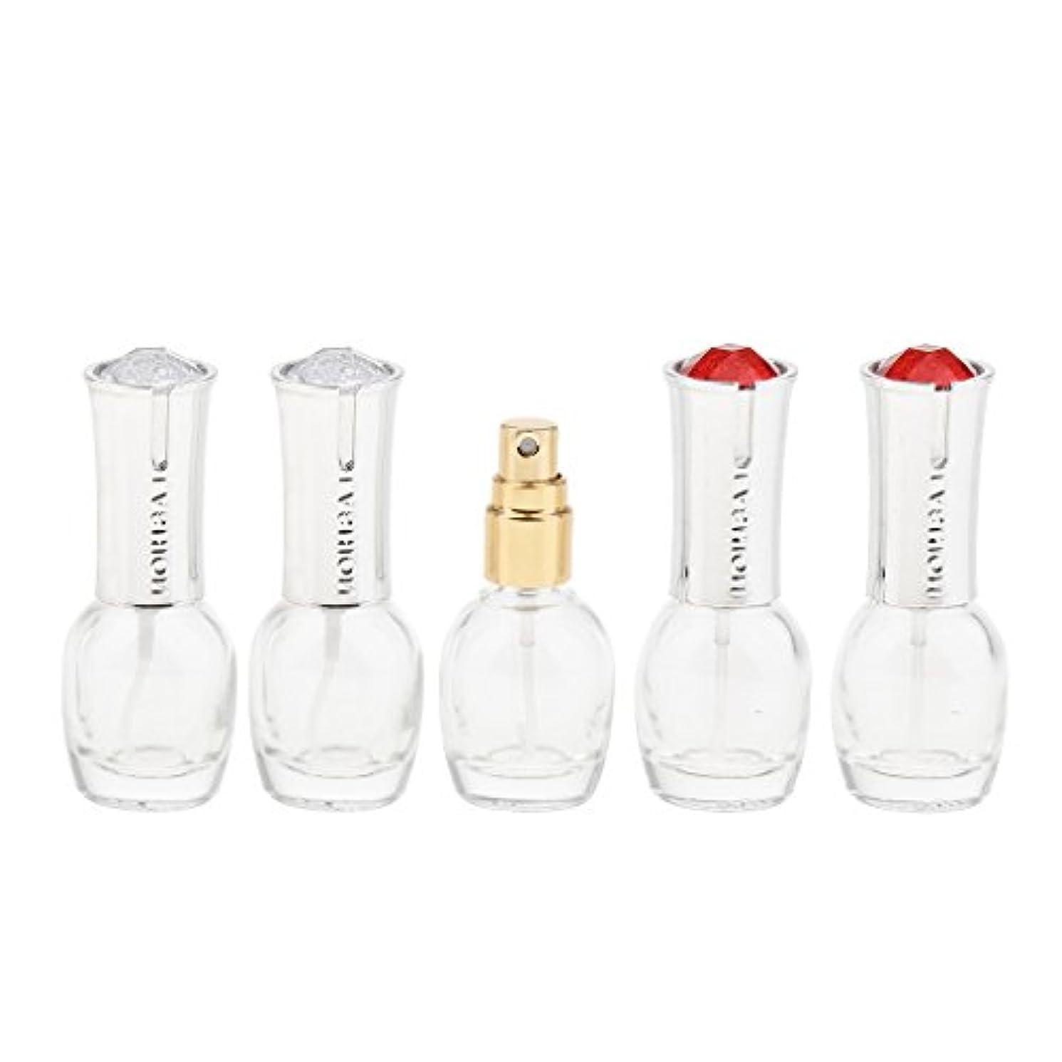 泣いている夕食を食べるハードリング5個 ガラス ボトル 10ml 詰替え オイル 香水 ローション 化粧品 コスメ アトマイザー スプレーボトル 旅行