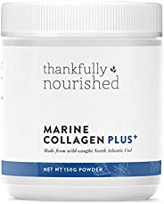 Thankfully Nourished Marine Collagen Plus Strawberry Flavour Powder 150 g, 150 grams