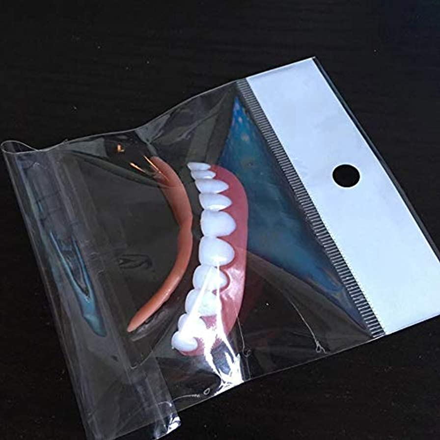 角度唇不条理アッパーホワイトティースセット、シリコンプラスチックダミー(3pcs),C