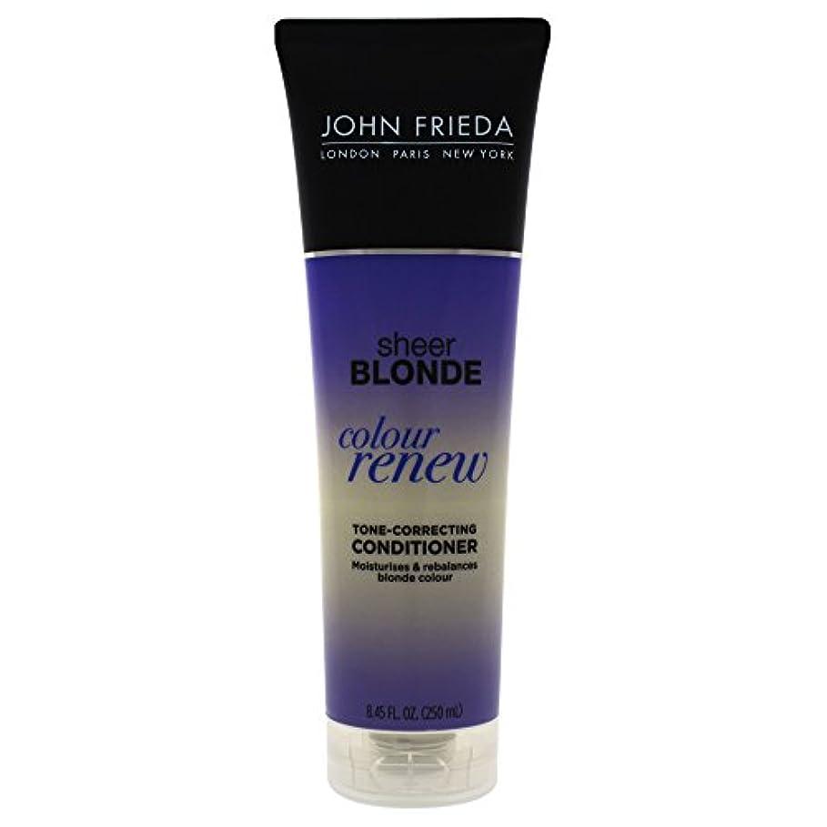 お居間どのくらいの頻度でJohn Frieda Sheer Blonde Color Renew Tone Correcting Conditioner, 8.45 Ounce by John Frieda