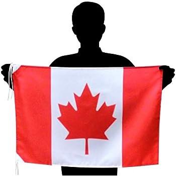 カナダ国旗 L メープルリーフフラッグ 応援サイズ:50×75cm 高級テトロン製 日本製