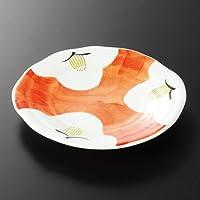 手描椿 4.8皿 [ 14.2 x 2cm 176g ] 【 特選取皿 】 【 料亭 旅館 和食器 飲食店 業務用 】