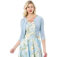Review Women's Chessie Shimmer 3/4 Sleeve Cardi Blue Shimmer