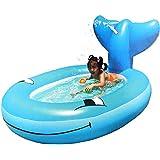 ビニールプール 子供用 シャワー機能付き 家庭用プール ホエールスプレープール 水遊び 小型 ZP-43NA