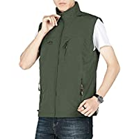 MAGNIVIT Men's Outdoor Lightweight Vest Work Fishing Hiking Travel Vest Gilet