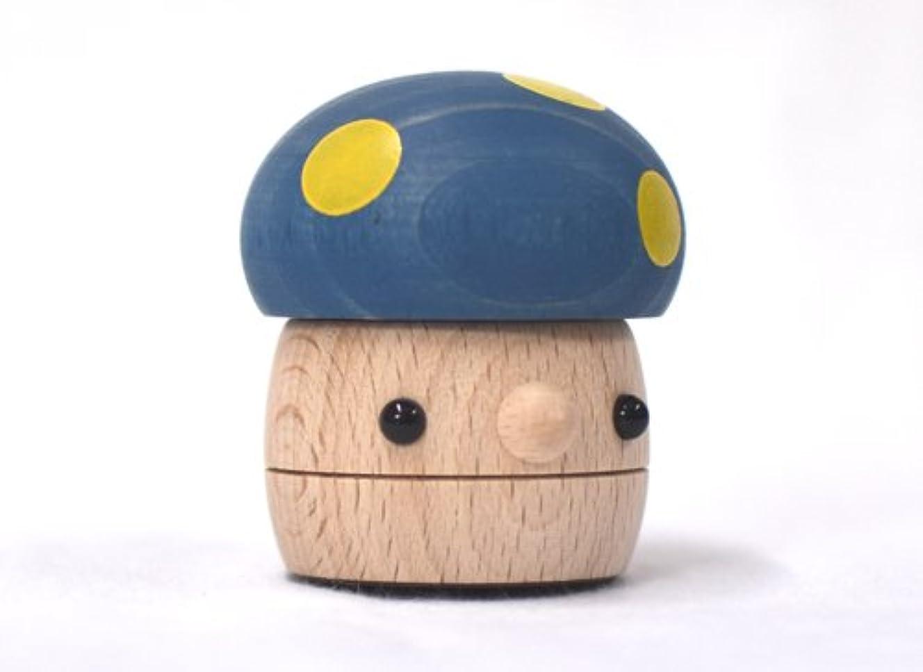 日付寛大さ文献おもちゃのこまーむ どんぐりきのこ ブルー (グッド?トイ選定玩具)