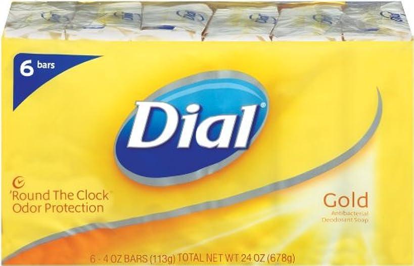 ピッチ穏やかな杭Dial Antibacterial Soap Bar, Gold, 6 Count (Pack of 2) by Dial