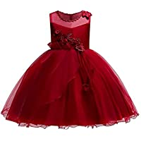 KISSOURBABY 2-9 T Little Girls Wedding Party Pageant Dress