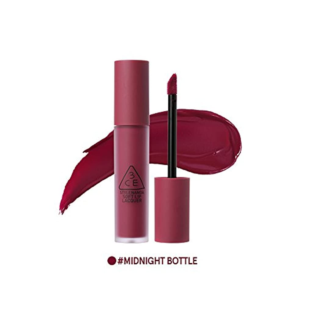 [3CE] ソフトリップロッカー海外直送品 Soft Lip Lacquer (Midnight Bottle) [並行輸入品]