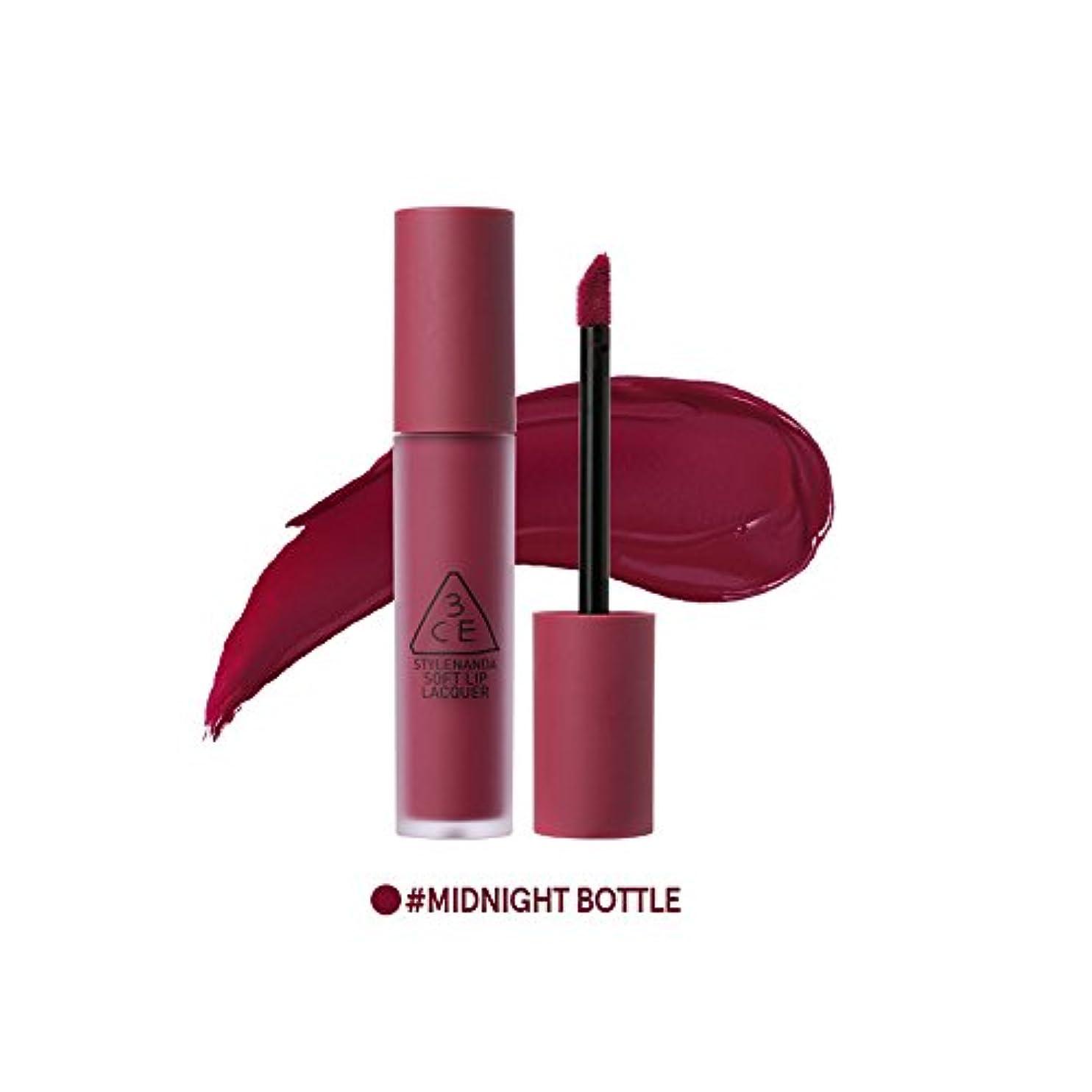 順応性のある感度本物[3CE] ソフトリップロッカー海外直送品 Soft Lip Lacquer (Midnight Bottle) [並行輸入品]
