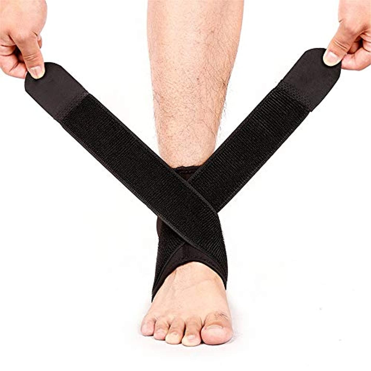 脚本家れんがアグネスグレイ足首サポート、圧縮弾性高保護スポーツ調節可能な通気性安全足首ブレース足首関節