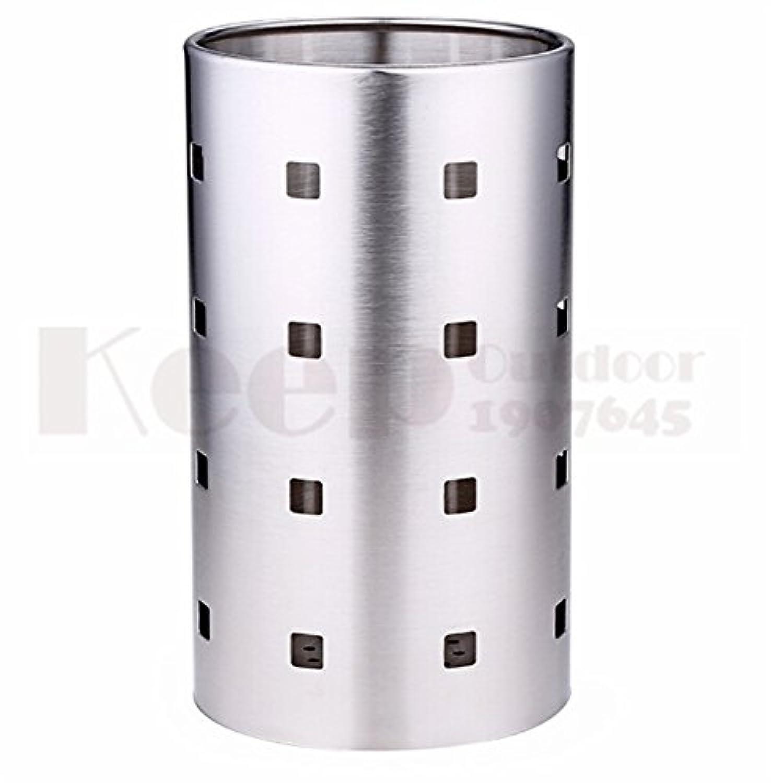 ステンレス鋼箸チューブ食器収納ラックドレインラックシャベルスプーンバケットナイフフォーク収納ボックスキッチン道具-L