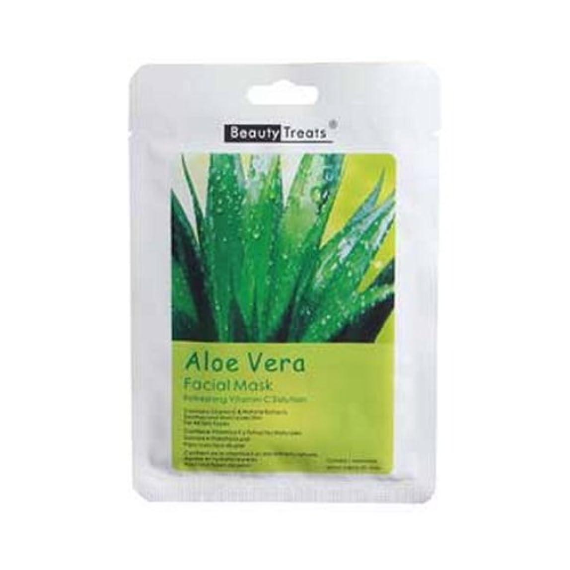 十分掘るトマト(6 Pack) BEAUTY TREATS Facial Mask Refreshing Vitamin C Solution - Aloe Vera (並行輸入品)