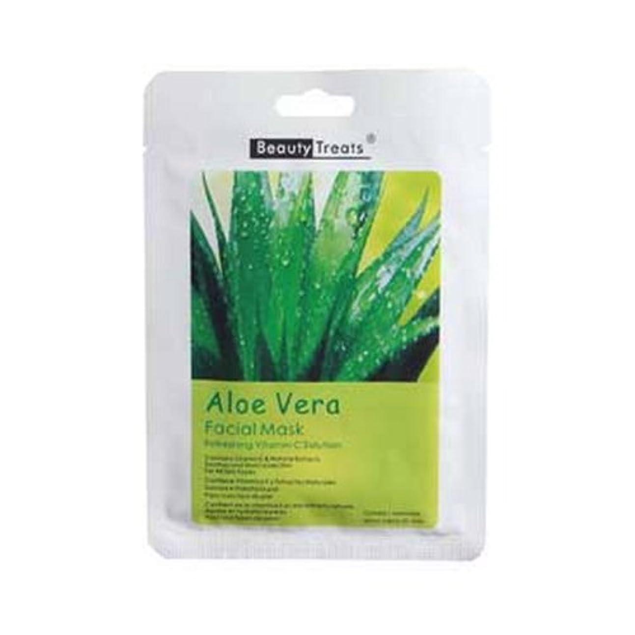 残酷平和な妨げる(6 Pack) BEAUTY TREATS Facial Mask Refreshing Vitamin C Solution - Aloe Vera (並行輸入品)