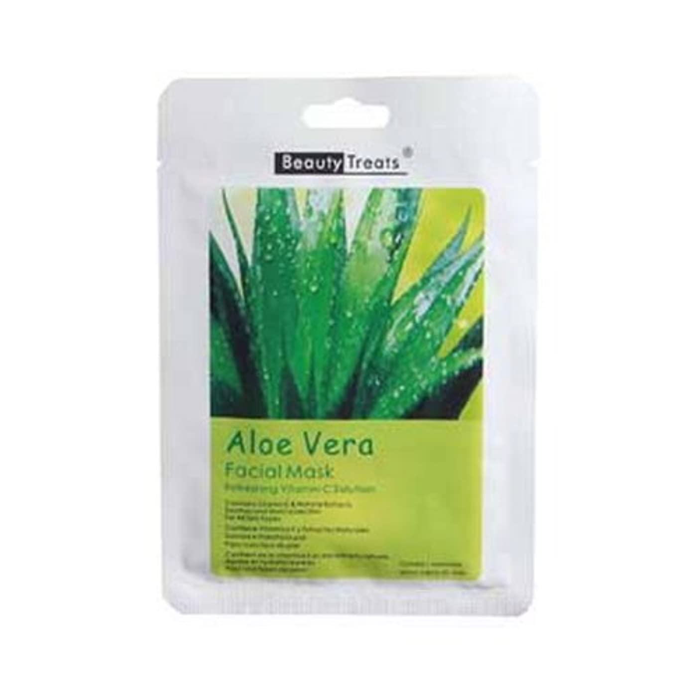 ゲート離れたやる(3 Pack) BEAUTY TREATS Facial Mask Refreshing Vitamin C Solution - Aloe Vera (並行輸入品)