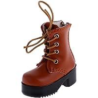 Blesiya 素敵 レースアップ ブーツ シューズ 靴 女の子 ギフト 1/4 BJD SDドール用 ブラウン