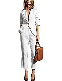 スーツ パンツスーツ セット レディース ホワイトスーツ 二つボタン 春夏物 薄手 結婚式など フォーマルスーツ