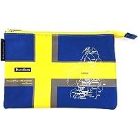 Bandiera(バンディエラ) ナショナル フラッグ ニューフラットポーチ M スウェーデン 11751【Sweden 国旗 地図 ポーチ】