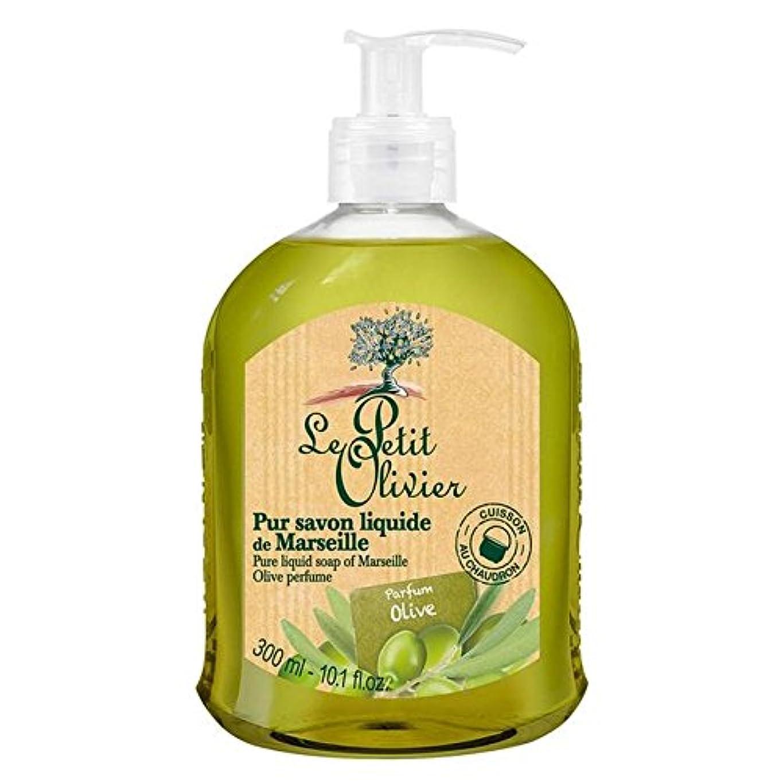 ギャロップ土アルバニーマルセイユのル?プティ?オリヴィエ純粋な液体石鹸、オリーブオイル300ミリリットル x4 - Le Petit Olivier Pure Liquid Soap of Marseille, Olive Oil 300ml (Pack of 4) [並行輸入品]