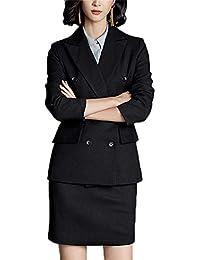 スーツ レディース 長袖 2点セット スカートスーツ タイトスカート ブラックジャケット通勤