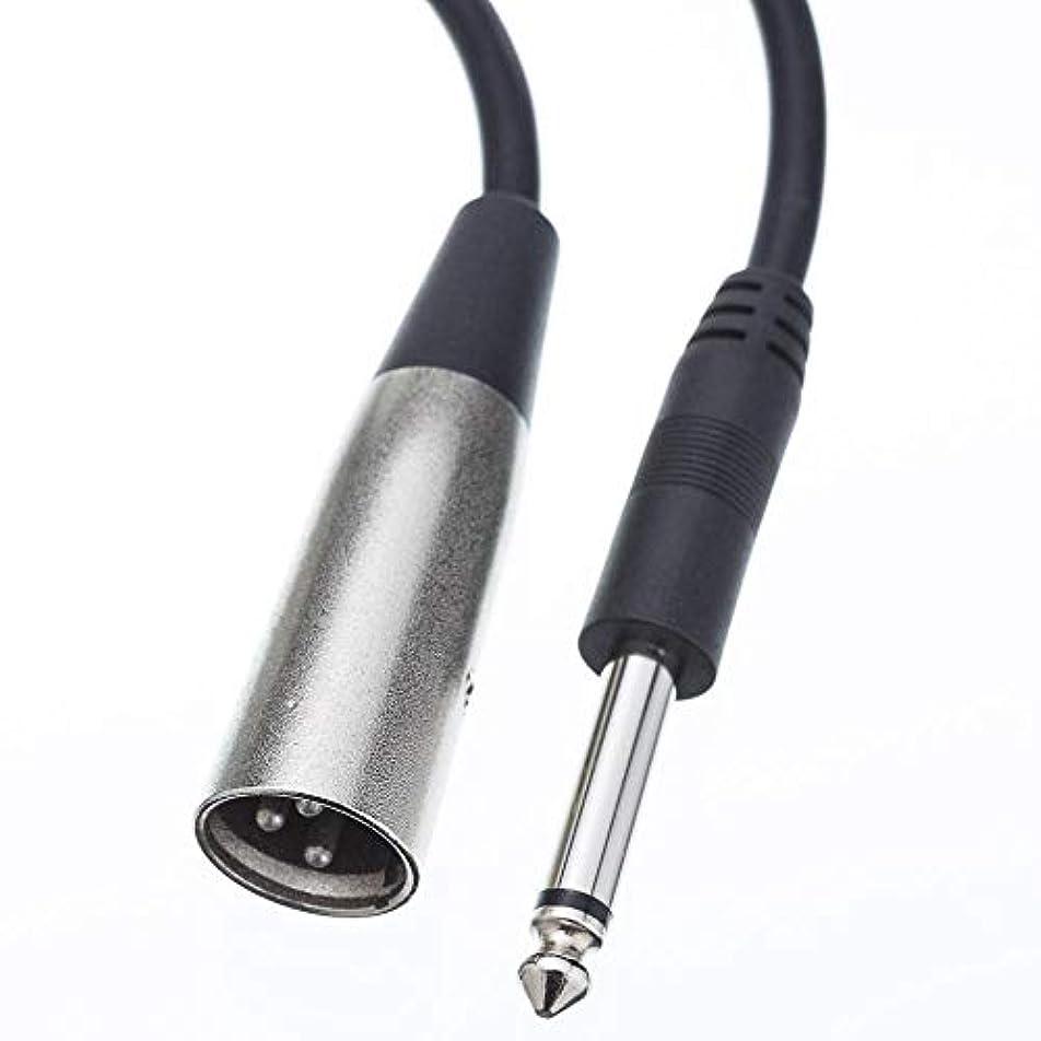大人カプセルポンペイGOWOS XLRオス→1/4インチモノオスオーディオケーブル、15フィート - メタル編組オススプリッターファイバーコンバーターアンプRCAコネクタワイヤー