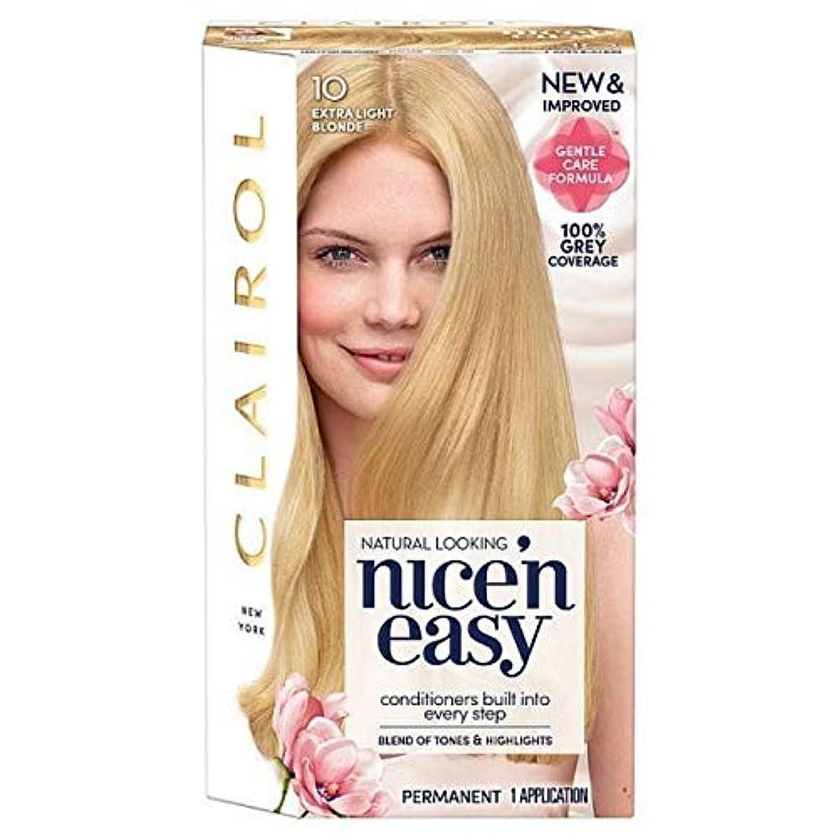 蒸区別するヶ月目[Nice'n Easy] Nice'N簡単に10人の余分な光のブロンド - Nice'n Easy 10 Extra Light Blonde [並行輸入品]
