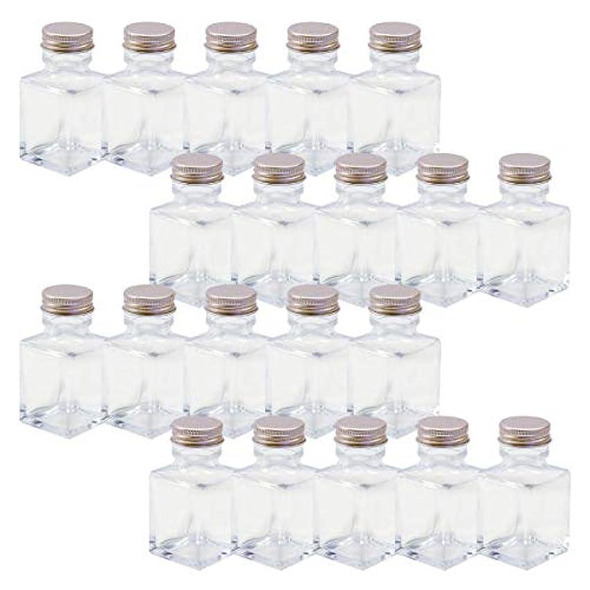 気配りのあるシリーズ盗賊ハーバリウム 四角柱ガラス瓶 50cc 20本セット