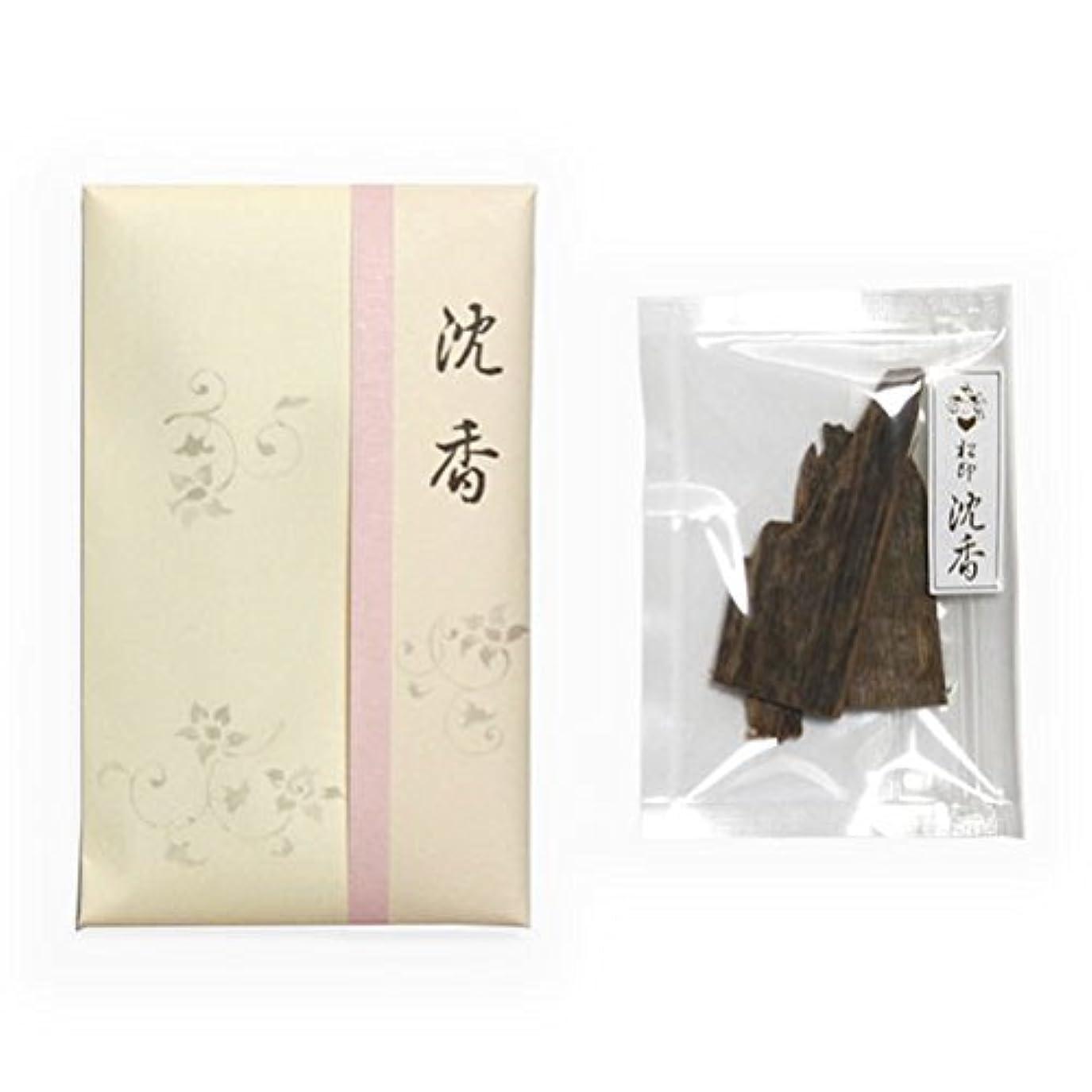寄付貫通する谷香木 松印 沈香 木(ぼく) 5g詰 松栄堂