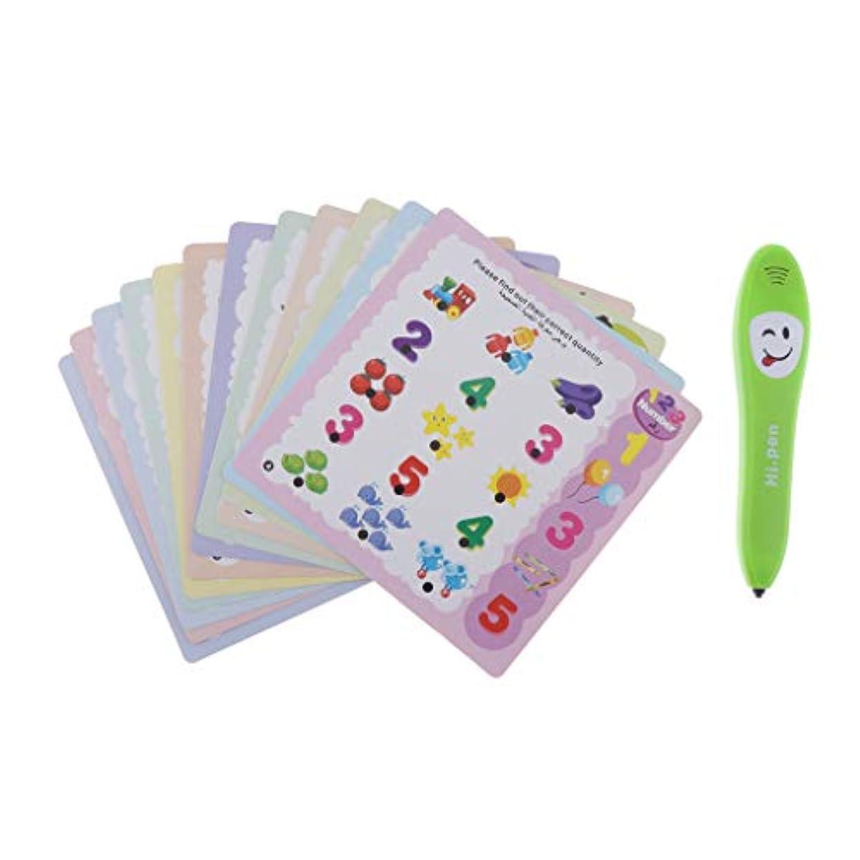 モットー鉄道駅うまくやる()読書ペン 12枚カード 幼児向け 学習玩具