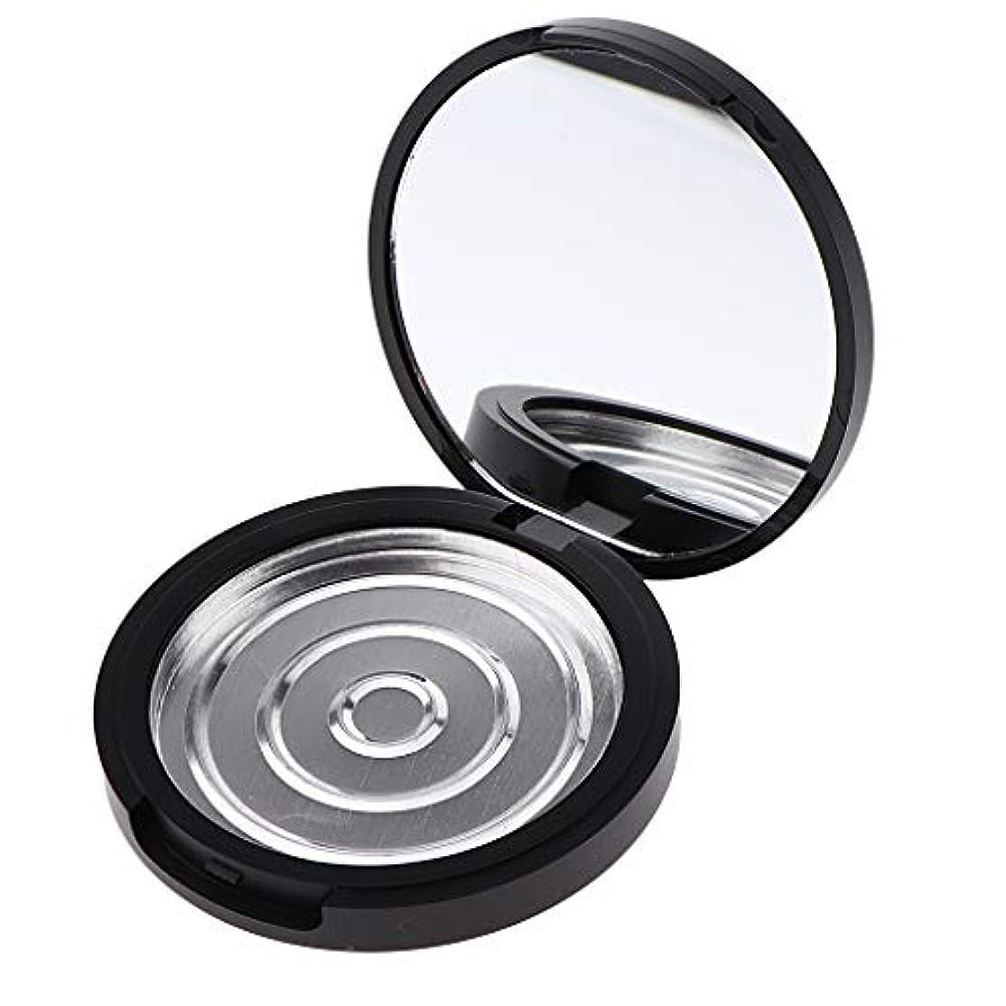キネマティクスポテト批判するP Prettyia パウダーケース 化粧鏡付き 手作りコスメ 収納ケース 小分け容器 3サイズ選べ - 高さ17mm