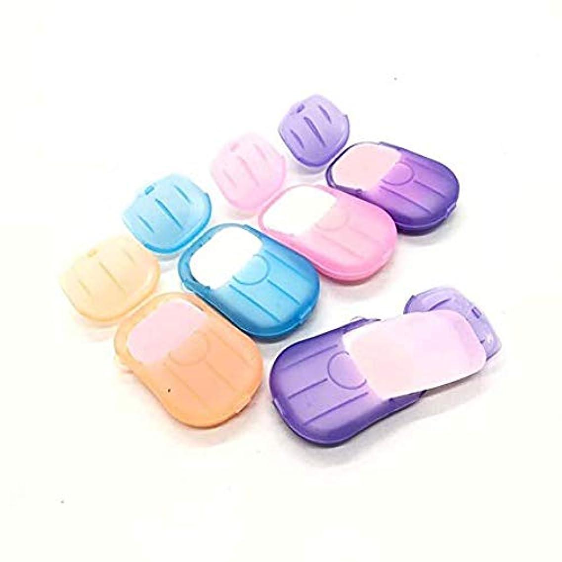 サンダル有力者助手Arvolno ペーパーソープ 紙せっけん 6個セット 石鹸 携帯用除菌 香り 超軽量 持ち運び 手洗い/お風呂 お出かけ 旅行 20枚/ケース (6個セット)