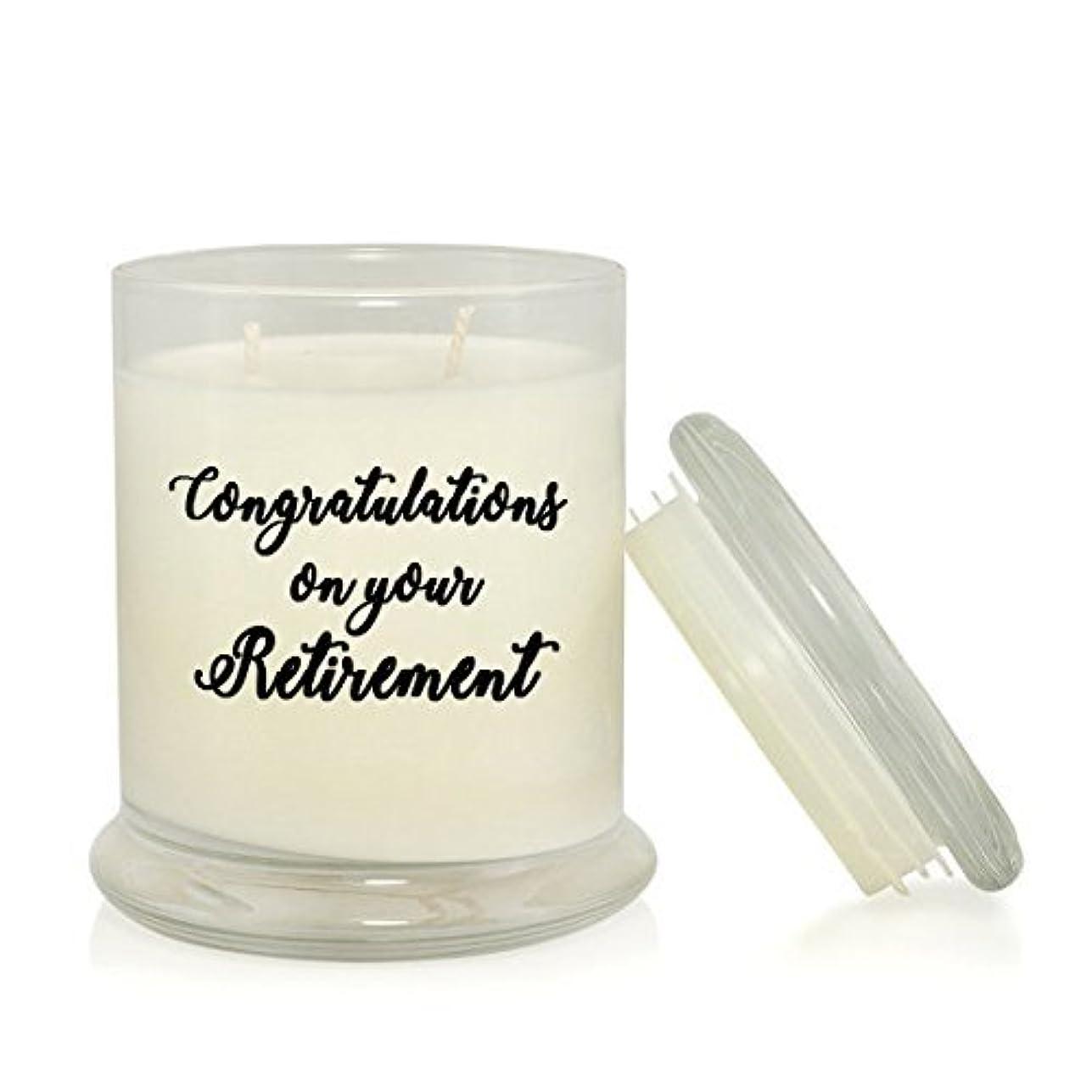 料理をする拳地域のCongratulations on Your Retirement 8.5 oz Soy Candle - Retirement Gift - Very Vanilla Scented [並行輸入品]