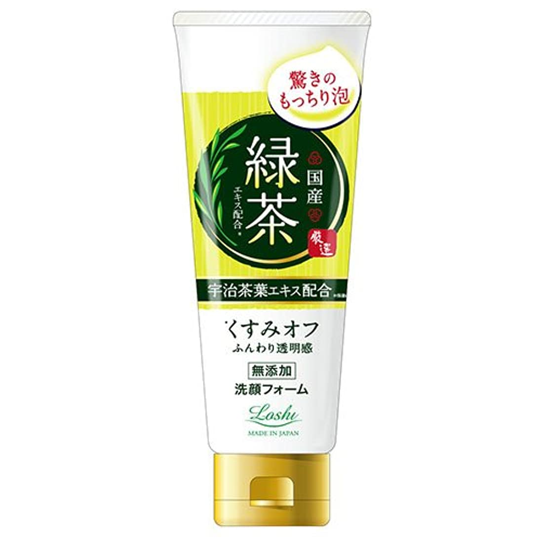 闇落胆する直面するロッシモイストエイド 国産 ホイップ洗顔 緑茶 120g