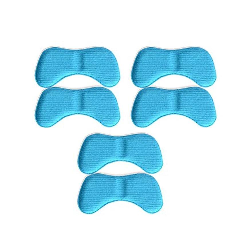 格納集計引き受ける3ペア蝶の羽の形4 d低反発靴のクッションパッドハイヒールインソール、キャンディーブルー