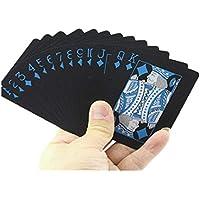 防水ポーカーカード| CrystellブラックPVCトランプカードセット品質プラスチックポーカーPVC