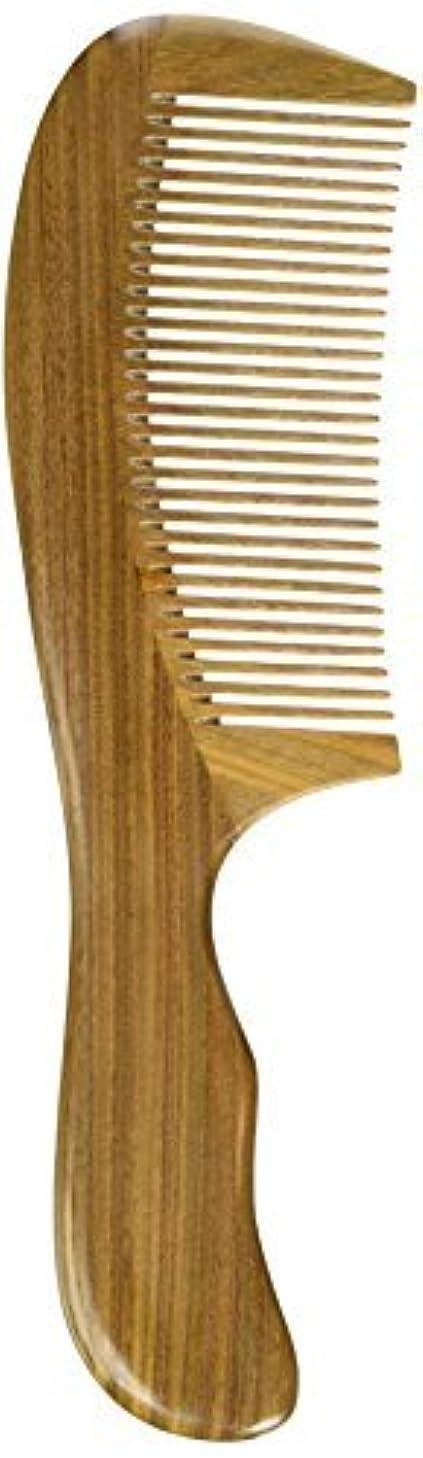 戸惑うゴム支配的EQLEF? Green sandalwood no static handmade comb,Pocket comb (standard) [並行輸入品]