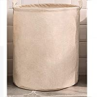 DCAH 収納バスケットシンプルなコットンハンパーフォールディングランドリーバスケット玩具収納バスケット3色オプション Laundry basket (色 : 白, サイズ さいず : 45 * 55CM)