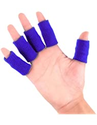 HEALLILY 10本指保護用のベッドベビーベッド指スリーブプロテクターコンプレッションフィンガープロテクターブレース(青)