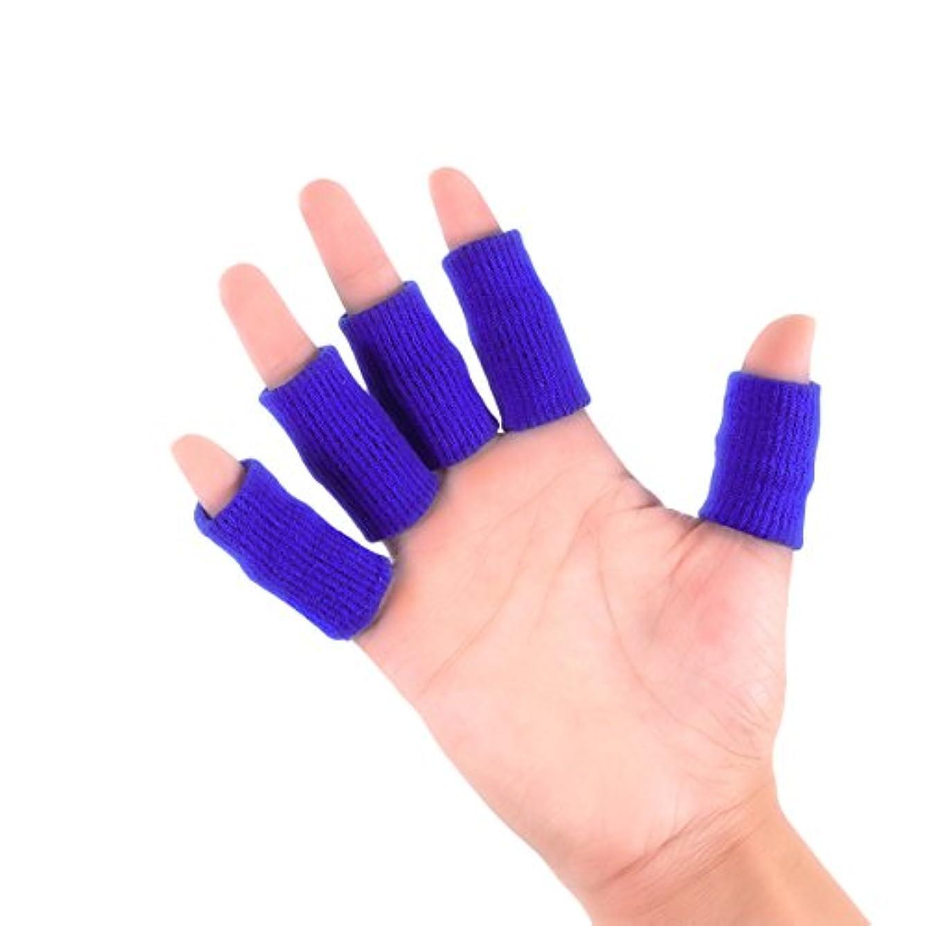 爆弾モーテル破滅HEALLILY 10本指保護用のベッドベビーベッド指スリーブプロテクターコンプレッションフィンガープロテクターブレース(青)