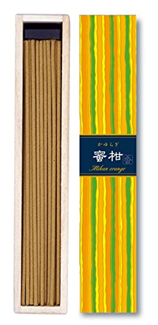 真実に自殺艦隊日本香堂 - かゆらぎ-蜜柑オレンジ スティック40本入り
