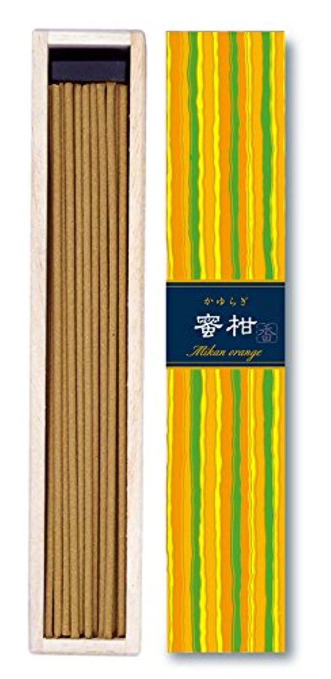 メロディアス気候薄いです日本香堂 - かゆらぎ-蜜柑オレンジ スティック40本入り