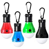 DaZone Camping Light, LED Camping Tent Lantern, Battery Powered Waterproof Portable Bulb for Camping, Hiking, Fishing, Hunting,Backpacking(4 Pack)