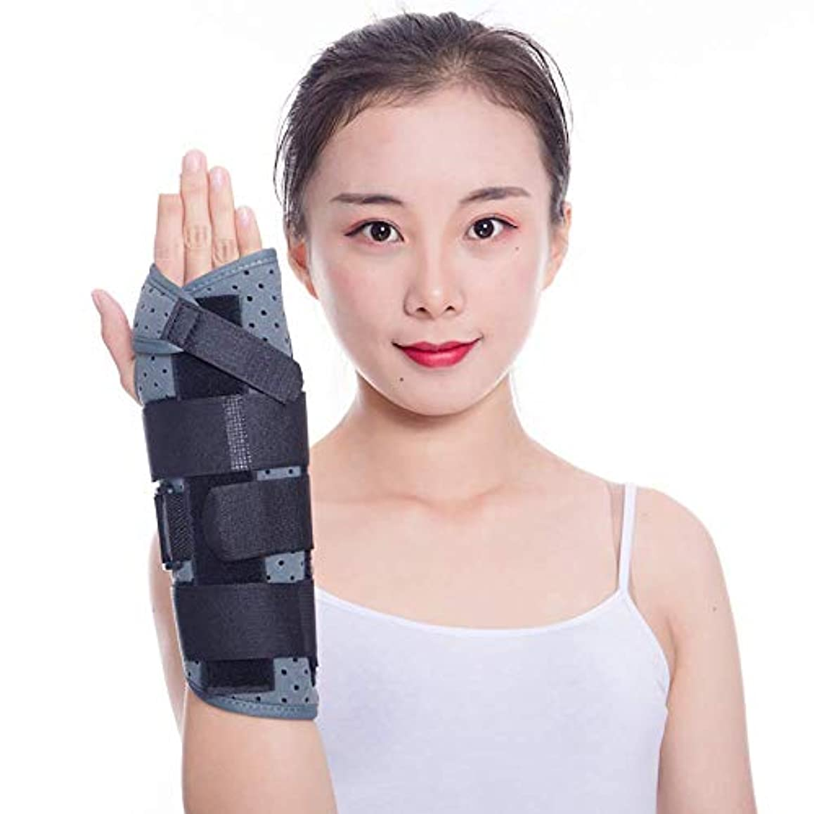 身元ナイトスポット出血手根管手首支柱 - 男性と女性、腱炎、関節炎、壊れた、スポーツのけがの痛みを軽減するための夜間の睡眠中の手首のサポート,Left,L