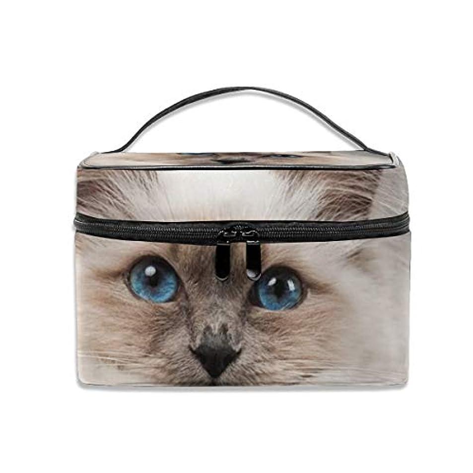 クアッガ増加するオーブンZetena コスメバッグ メイクポーチ ネコ 猫柄 化粧ポーチ バニティケース トラベルポーチ 収納ボックス 化粧 収納 雑貨 小物入れ 出張用バック 超軽量 機能的 大容量