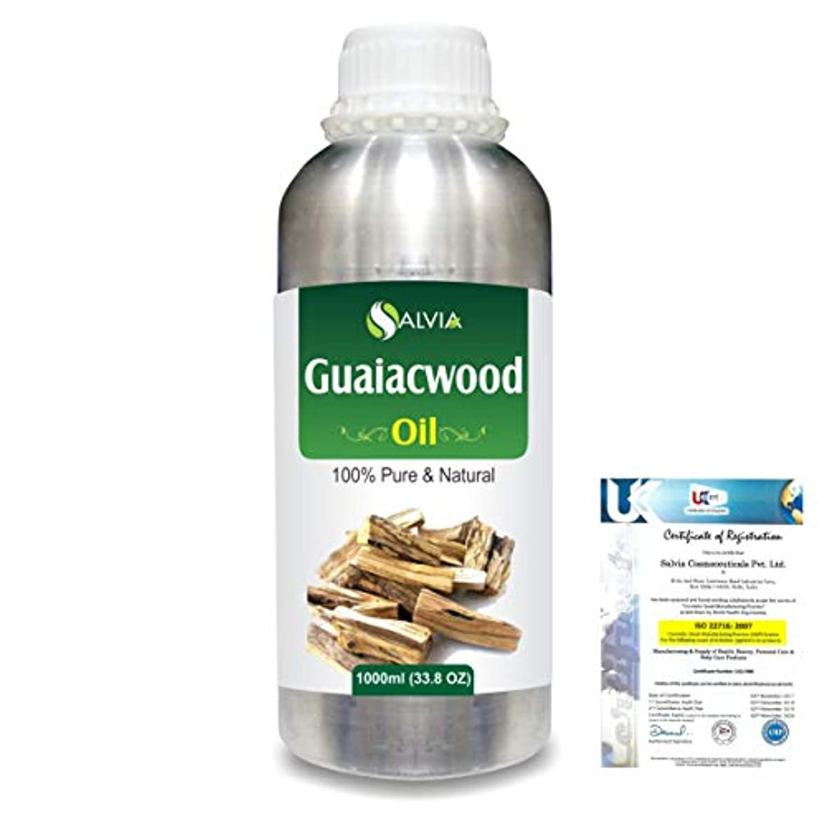 スペアバナー自伝Guaiacwood (Bulnesia sarmientoi) 100% Pure Natural Essential Oil 1000ml/33.8fl.oz.