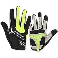 INBIKE 5MM Gel Pad Cycling Gloves, Touch Screen Bike Gloves, Anti-Slip Breathable Full Finger Mountain Glove Men Women