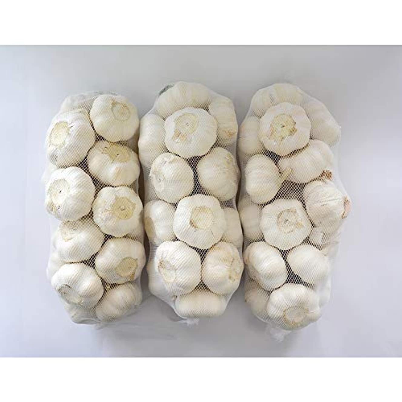 電信予感限られたにんにく種球 1kg×3ネット 中国産 上海嘉定種(ホワイト)